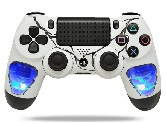 Skulls Blue Ps4 Custom modded controller