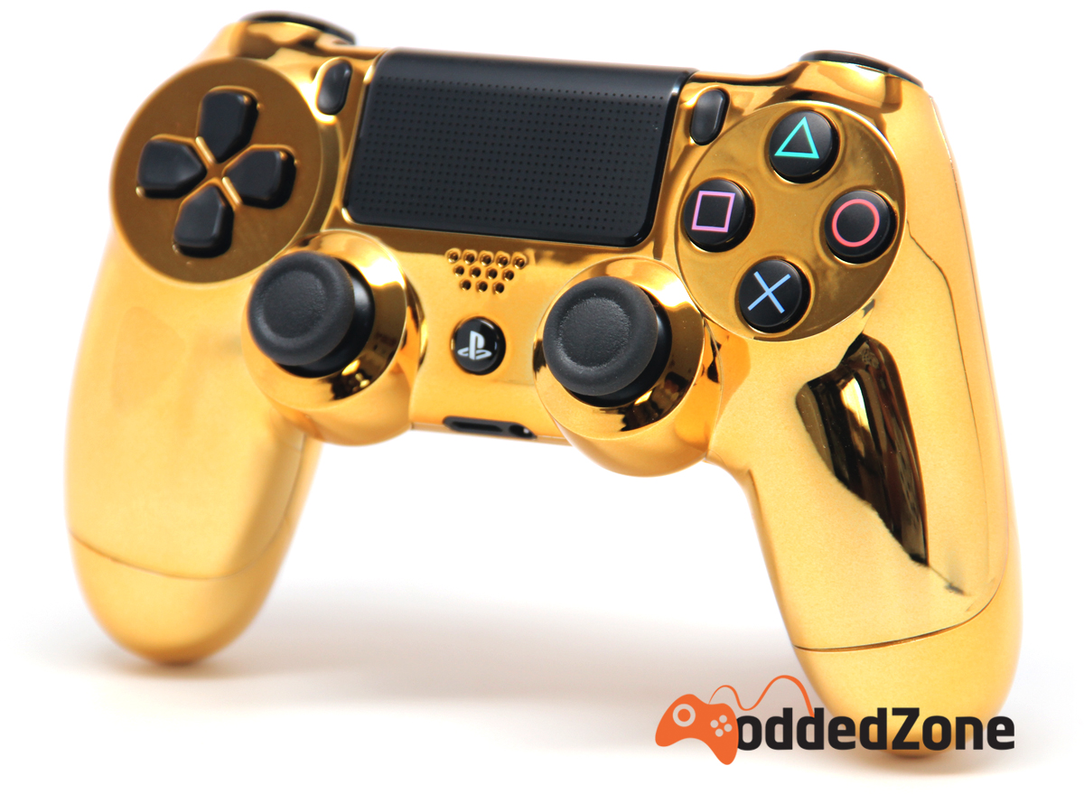 """""""CHROME GOLD"""" PS4 MODDED CONTROLLER"""