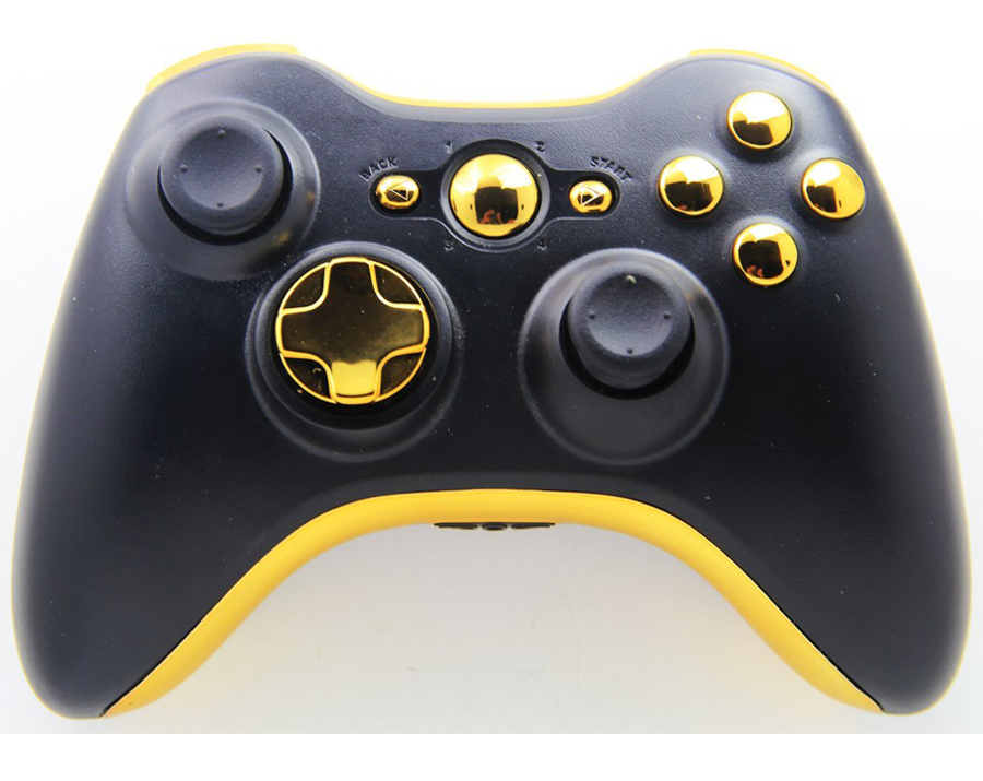 All Xbox 360 Controllers : Quot black gold xbox modded controller moddedzone