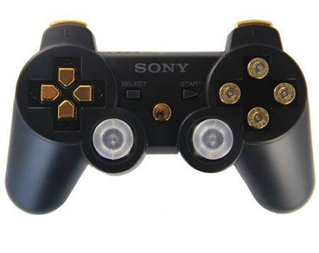 BLACK/GOLD BULLETS PS3 MODDED CONTROLLER