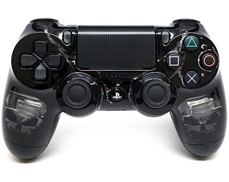 """SKULLS BLACK"" PS4 MODDED CONTROLLER"