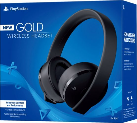 playstation gold wireless stereo headset new version. Black Bedroom Furniture Sets. Home Design Ideas