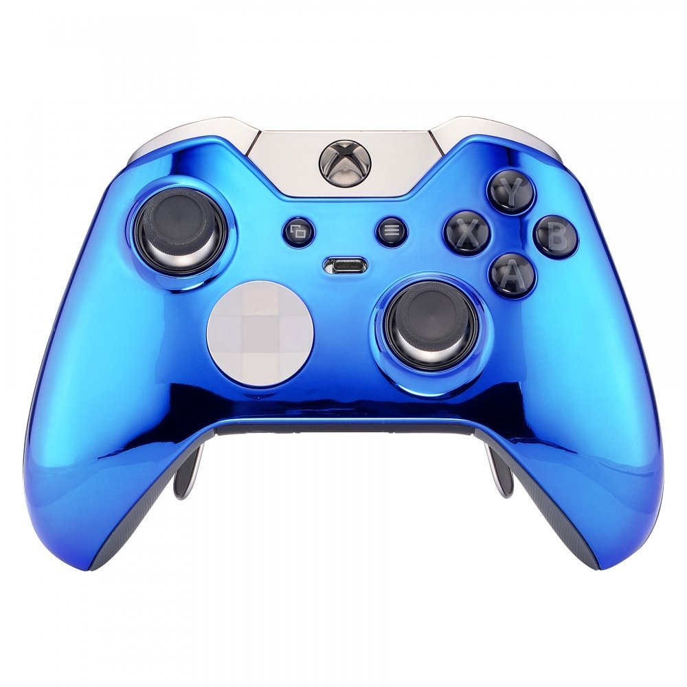 Chrome BLUE xbox one elite modded controller rapid fire