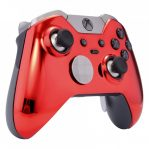 Chrome RED xbox one elite modded controller rapid fire