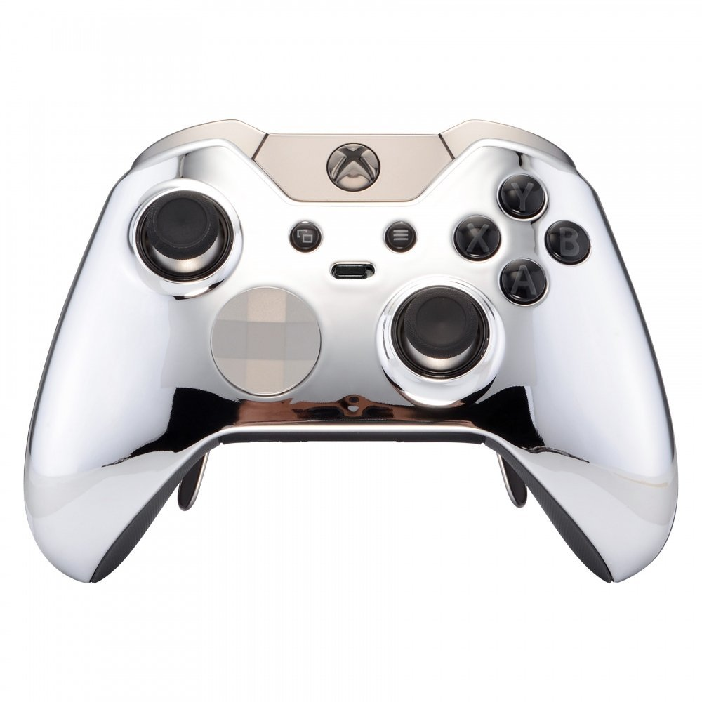 """CHROME SILVER"" XBOX ONE ELITE MODDED CONTROLLER - ModdedZone"