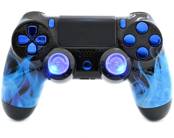 Blue Fire PS4 custom modded controller