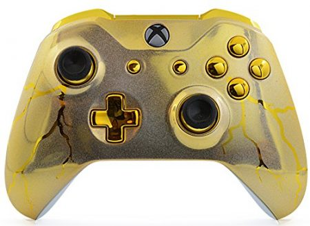 gold thunder xbox one s controller
