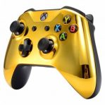 gold xbox one s modded controller