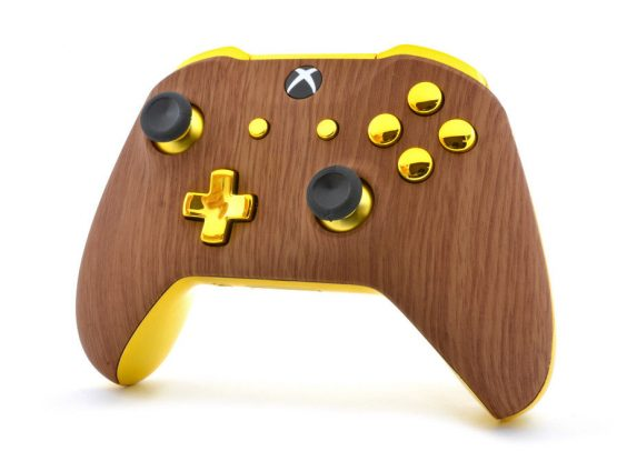 """""""GOLDEN WOOD"""" XBOX ONE S MODDED CONTROLLER"""