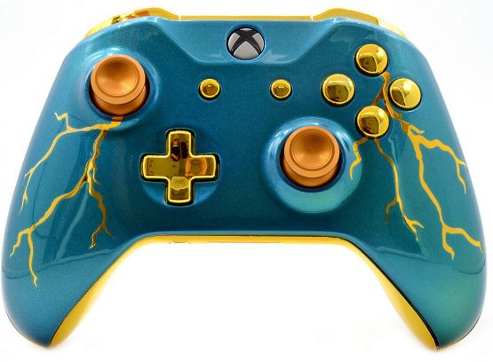 """BLUE THUNDER"" XBOX ONE S MODDED CONTROLLER"