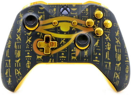 """ALL SEEING EYE GOLD"" XBOX ONE S MODDED CONTROLLER"