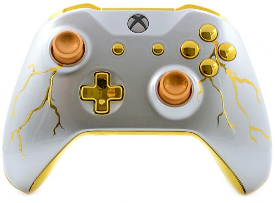 """GOLD THUNDER"" XBOX ONE S MODDED CONTROLLER"