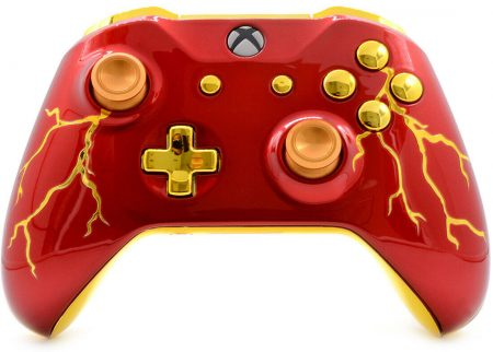 """RED THUNDER"" XBOX ONE S MODDED CONTROLLER"
