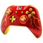 """""""RED THUNDER"""" XBOX ONE S MODDED CONTROLLER"""